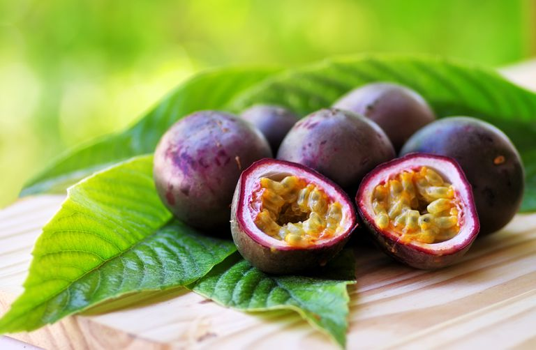 Close-Up Of Passion Fruits