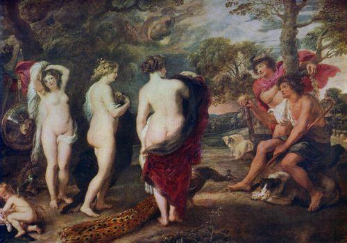 La pintura de Rubén, Juicio de París