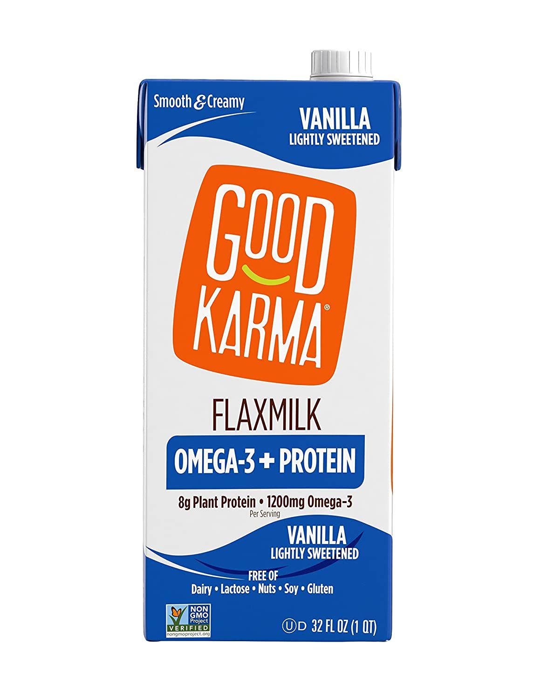 Good Karma Vanilla Lightly Sweetened Plant-Powered Flaxmilk