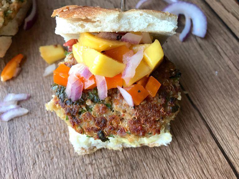 quinoa salmon burger