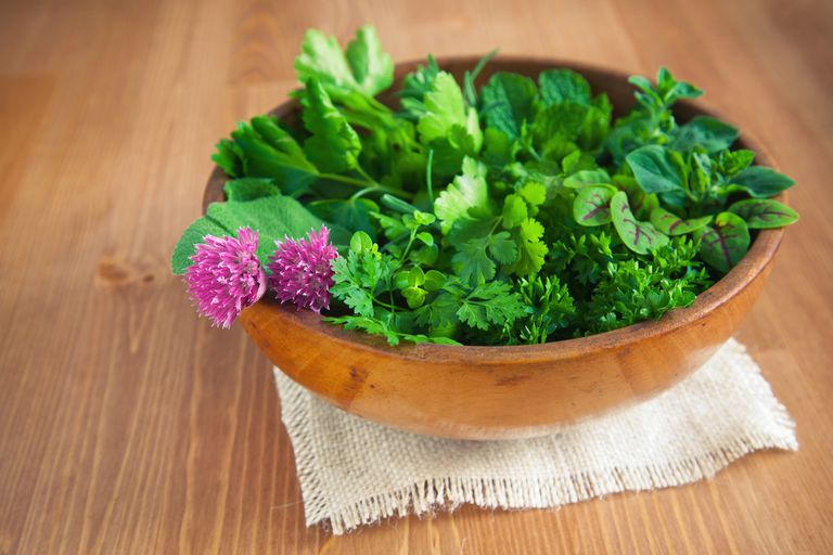 chervil and herbs
