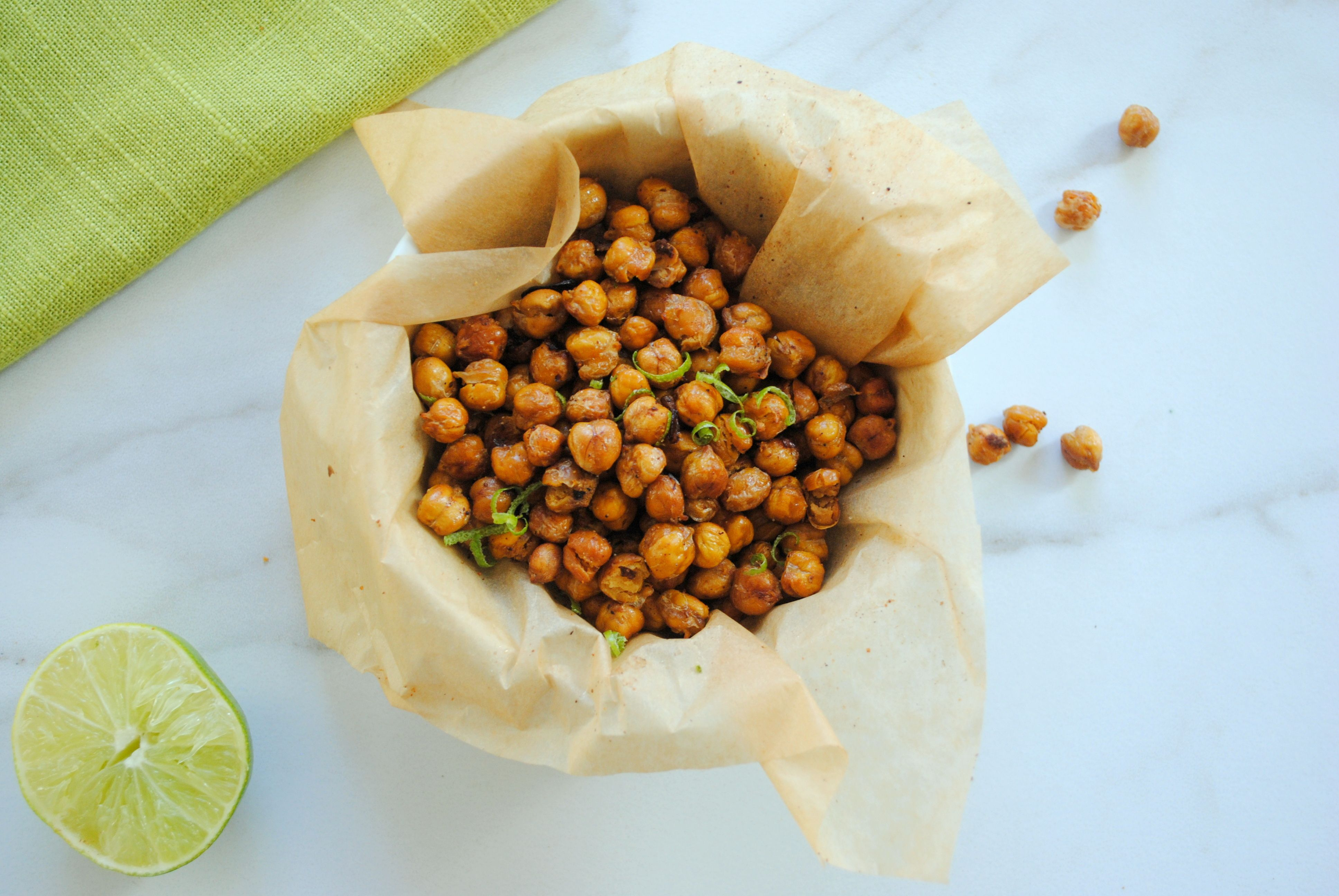 Cumin-Lime Roasted Chickpeas Are a Crunchy Fiber-Packed Snack