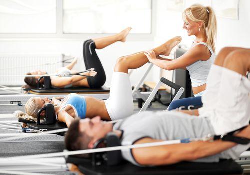Gimnasia Pilates.