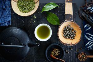 Green tea and herbs