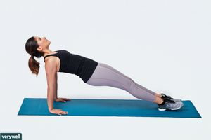 woman doing reverse plank exercise