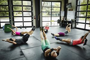 People working out abs