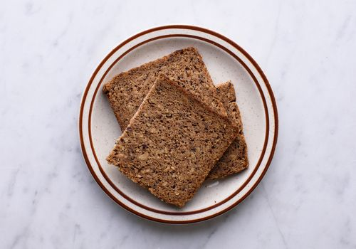 rye bread on a plate