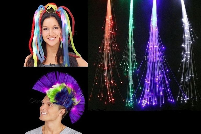 LED Wigs and Hair Extensions