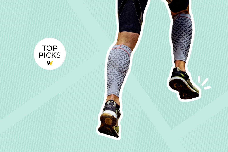 Zensah Leg Compression Sleeves Running//Sports Yellow Reflect XS//S Calf Shin