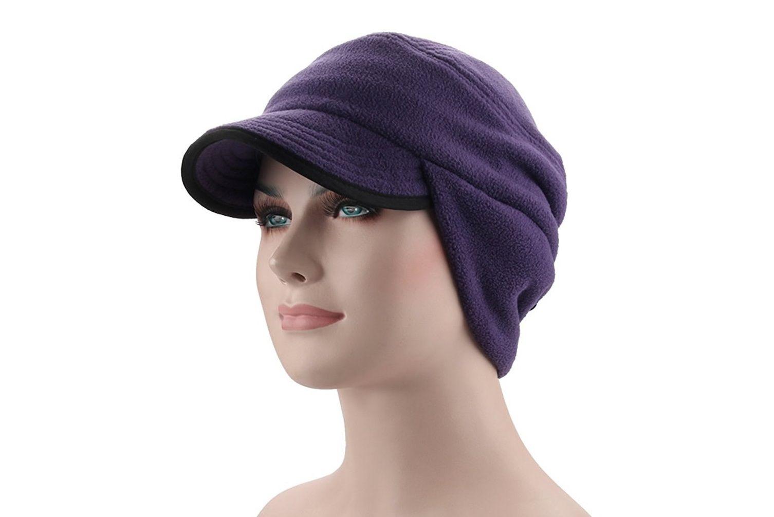 Windproof Fleece Earflap Hat with Visor 8278839174b