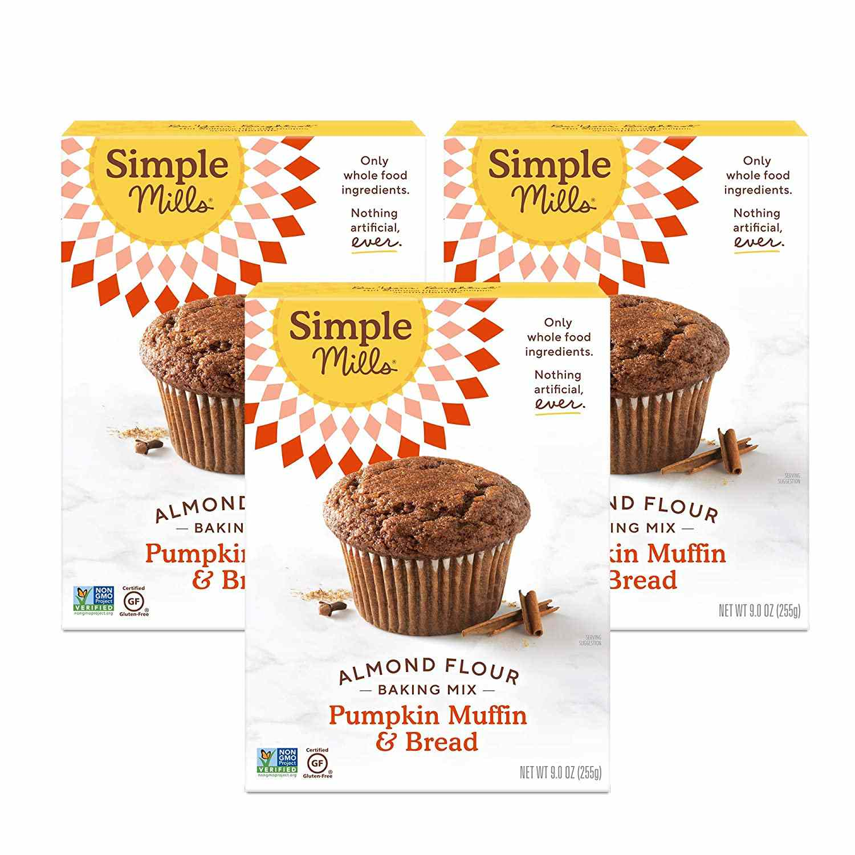 Simple Mills Almond Flour Baking Mix Gluten Free Pumpkin Bread Mix