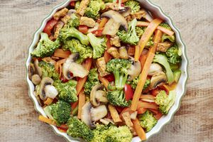 broccoli pepper mushroom tofu stir fry