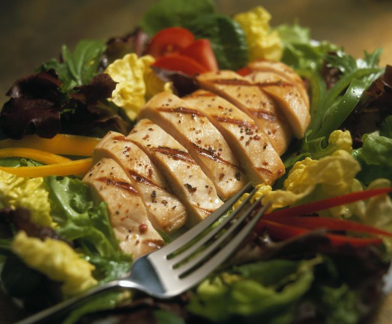 Sliced Chicken Breast Salad
