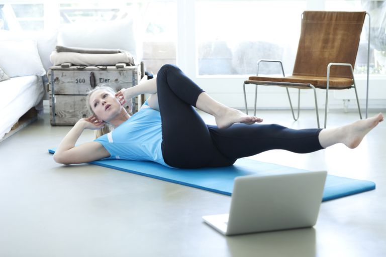 Yoga With a LapTop Nearby