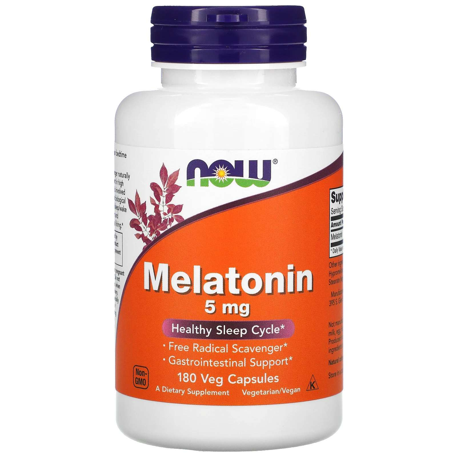 Now Foods Melatonin 5 mg