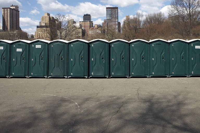 portable toilets at Central Park