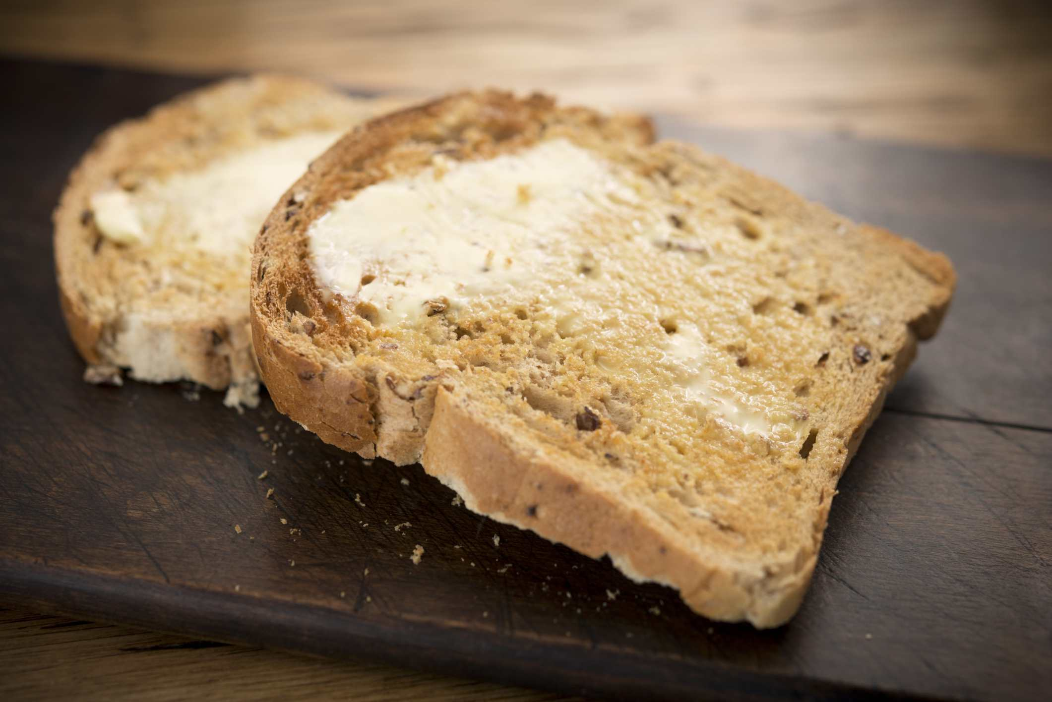 Whole grain bread is good for your diet.