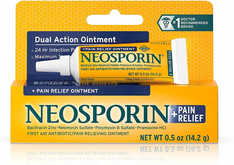 Neosporin + Maximum-Strength Pain Relief Dual Action Antibiotic Ointment