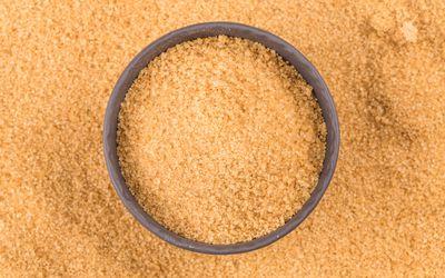 Crystals cane sugar