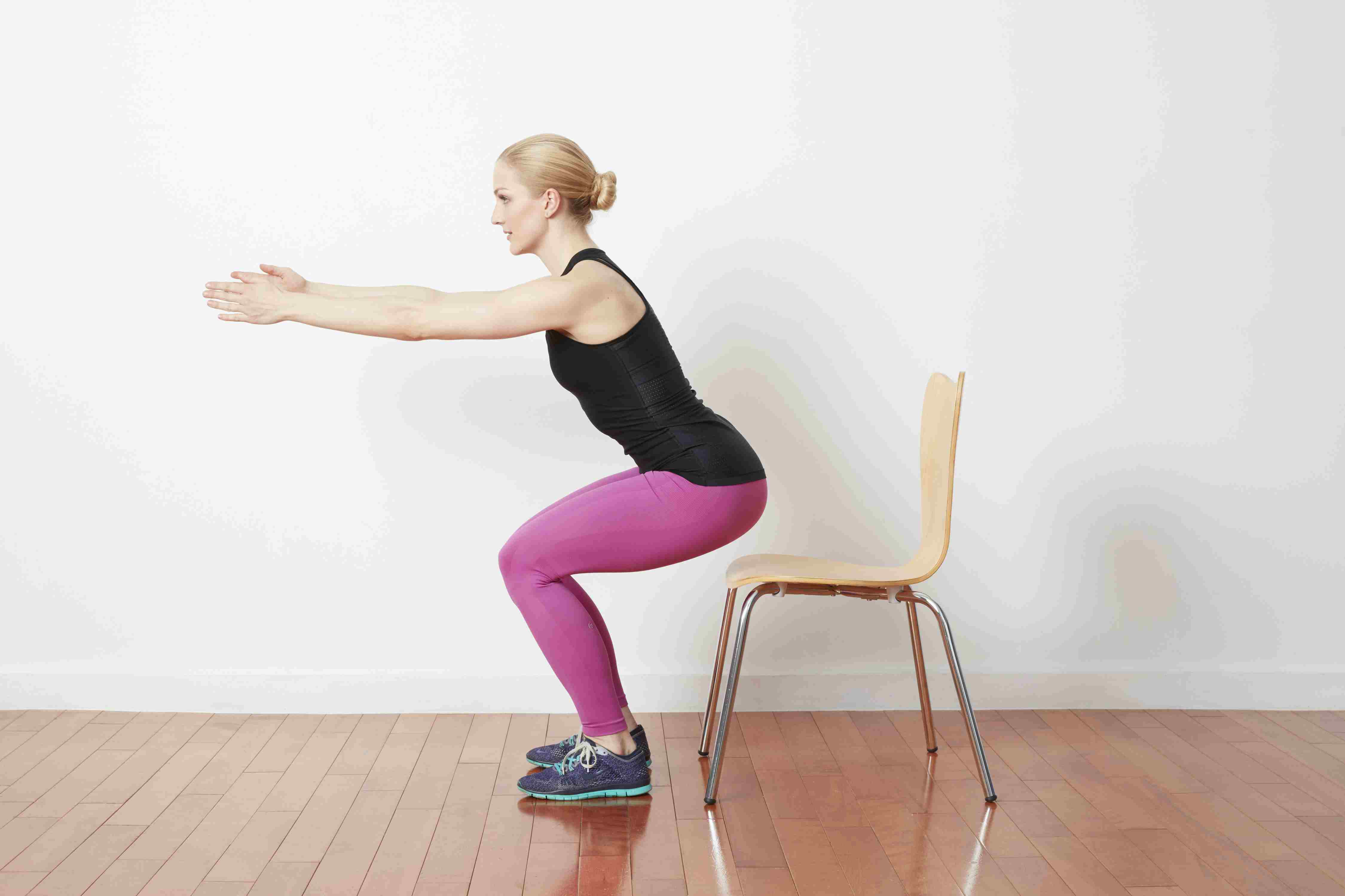 Pulsing Chair Squats