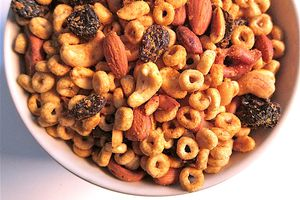 Spiced Almond Cereal Snack Mix