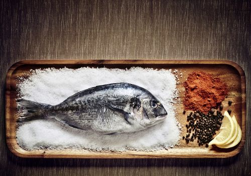 Fish on salt -- source of iodine