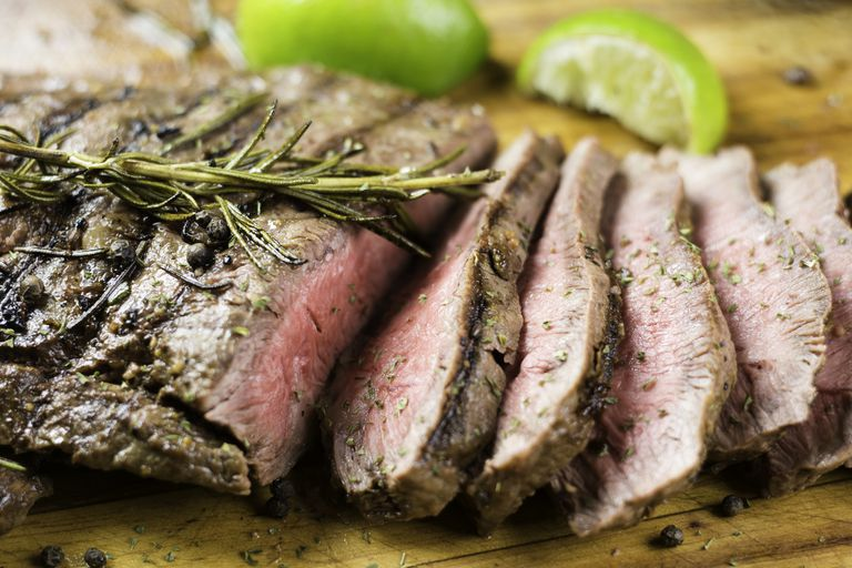 Juicy Steak in slices