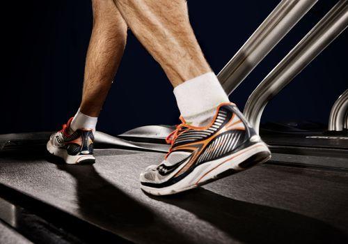 Man Walking on Treadmill