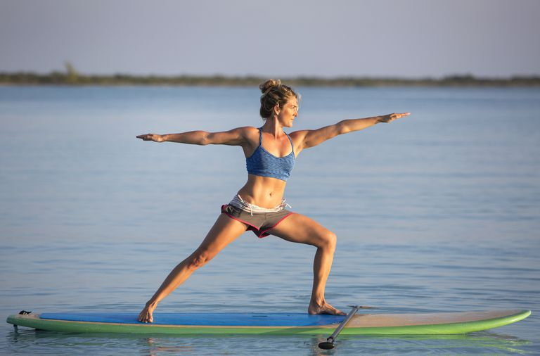 Yoga on a Stand Up Paddle Board