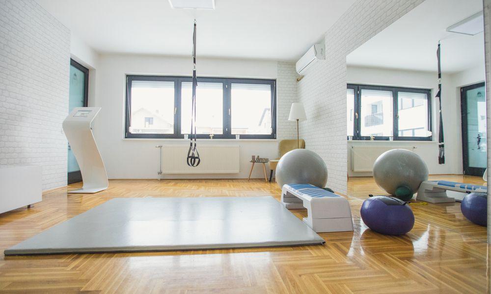 Home gym floor