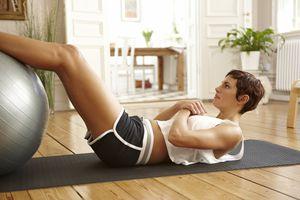home workout crunch