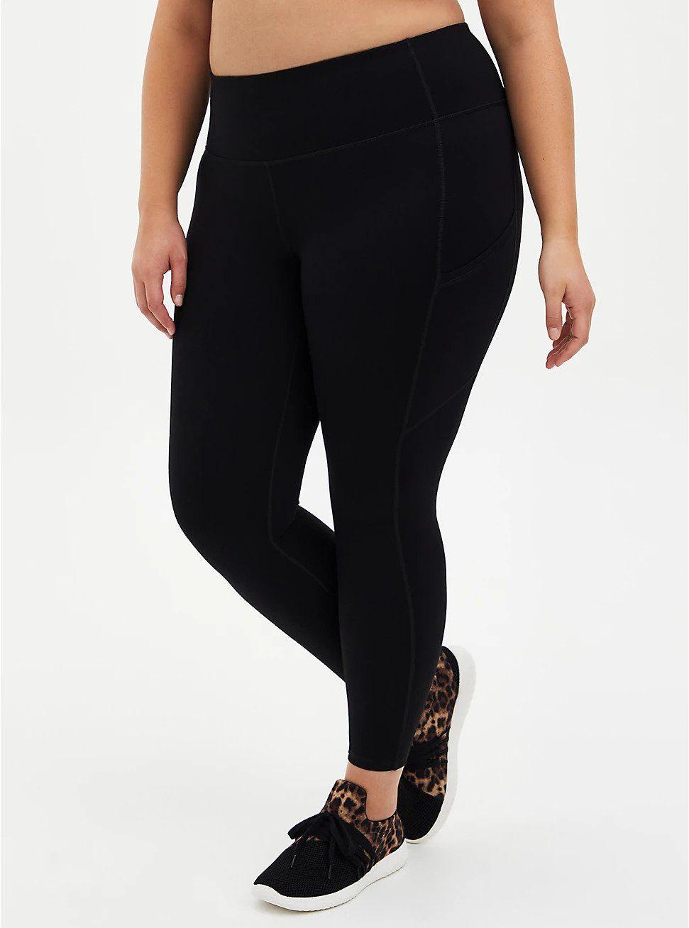 Torrid Black Wicking Full Length Active Legging with Pockets