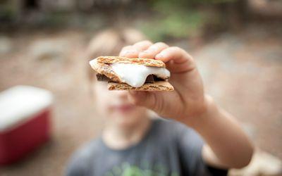 Boy eating Smores