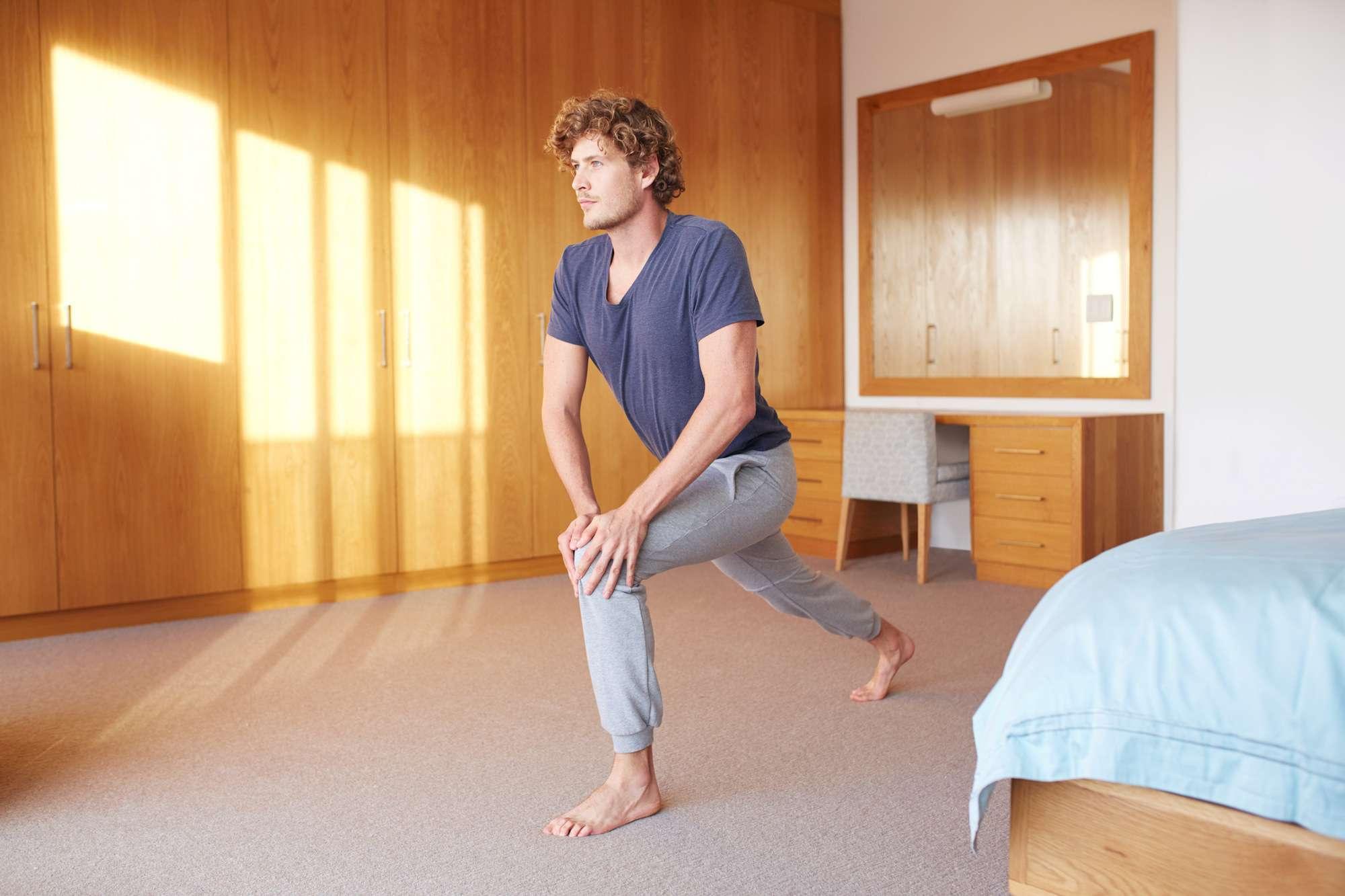 Comenzando la mañana con algunos ejercicios de calistenia