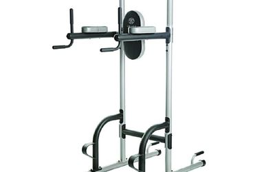 Golds Gym XR 109 Power Tower With Push Up Pull And Dip Stations