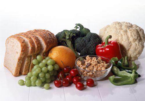 Comida saludable variada