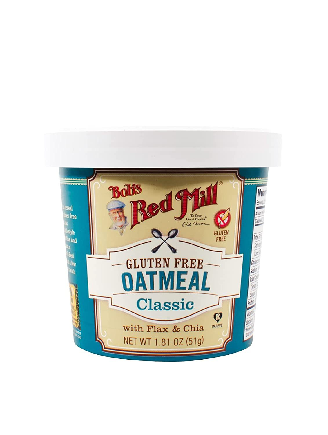 Bob's Red Mill Gluten-Free Classic Oatmeal with Flax and Chia
