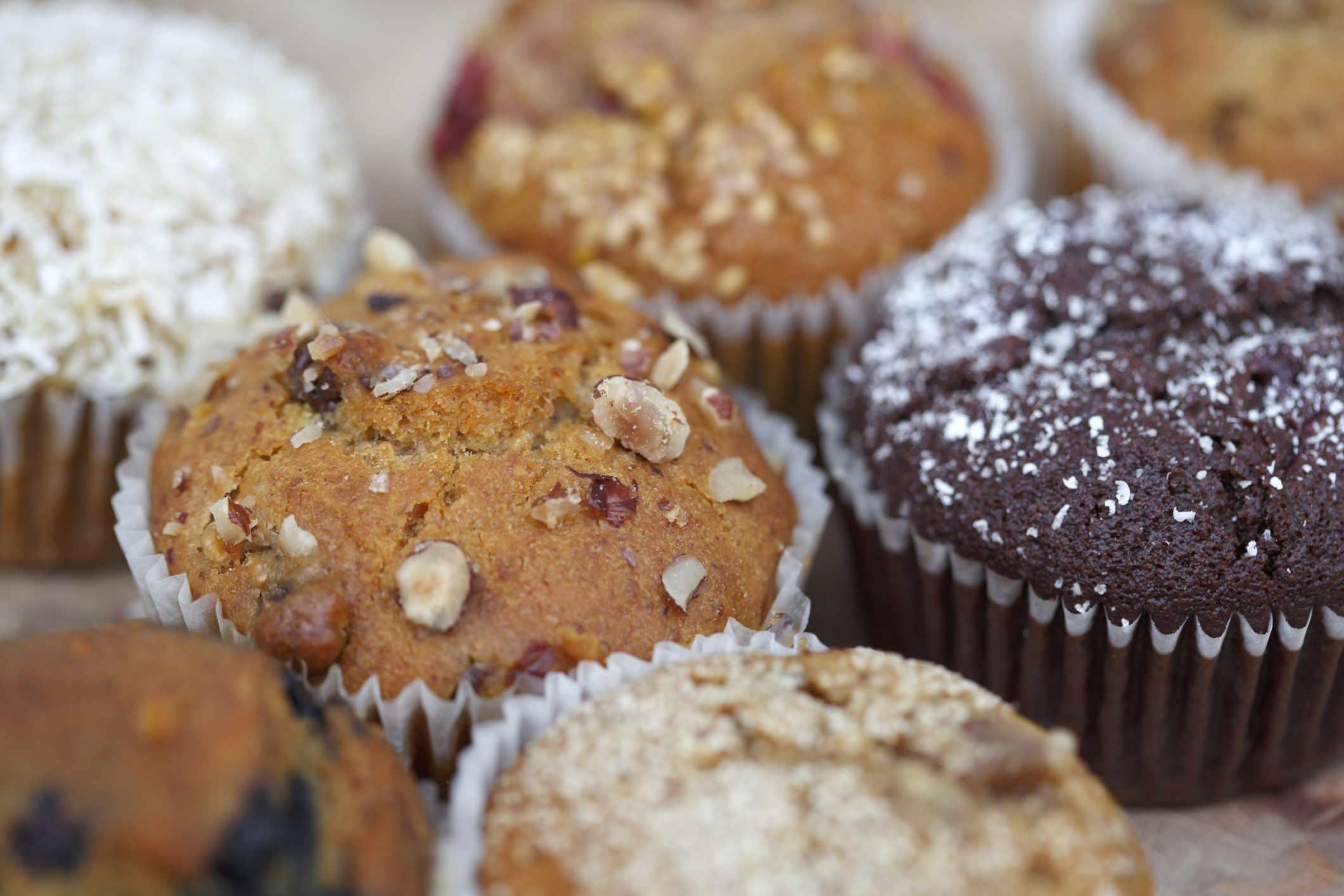 muffins vacíos de calorías
