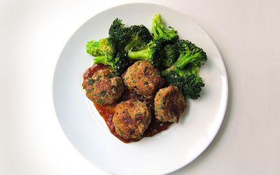 Cilantro and Scallion Meatballs
