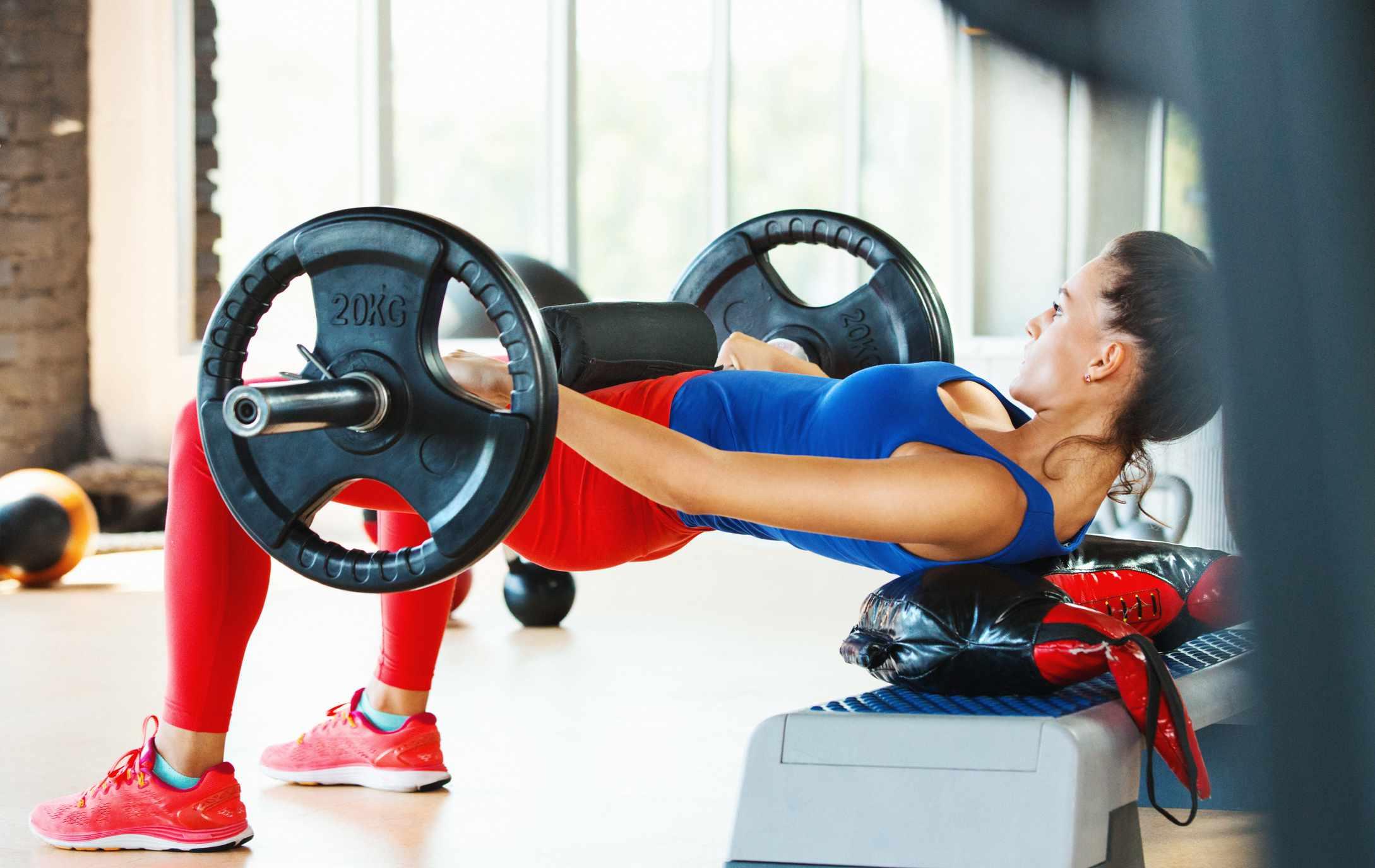 Hip thrust exercise.