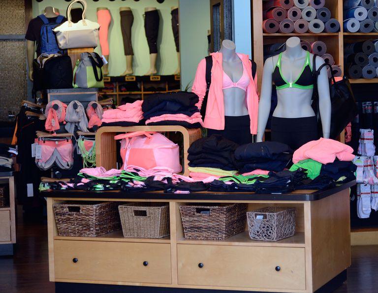Lululemon store display