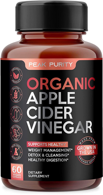 Peak Purity Organic Raw Apple Cider Vinegar Capsules