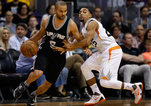 Un juego de baloncesto de la NBA