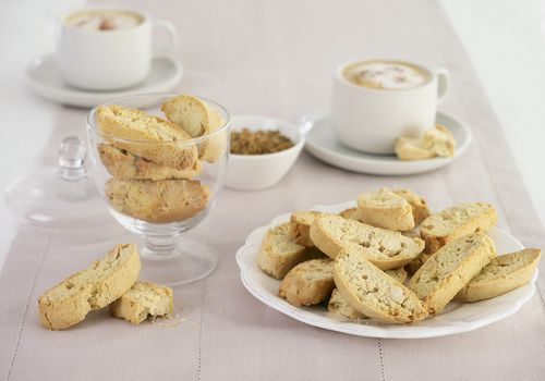 Biscotti served with coffee
