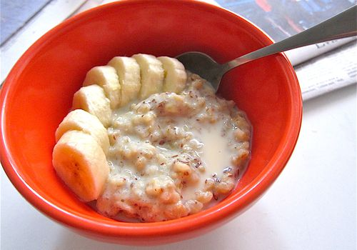Vegan Banana Brown Rice Porridge