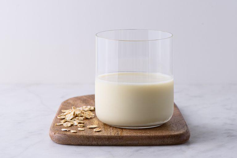 glass of oat milk