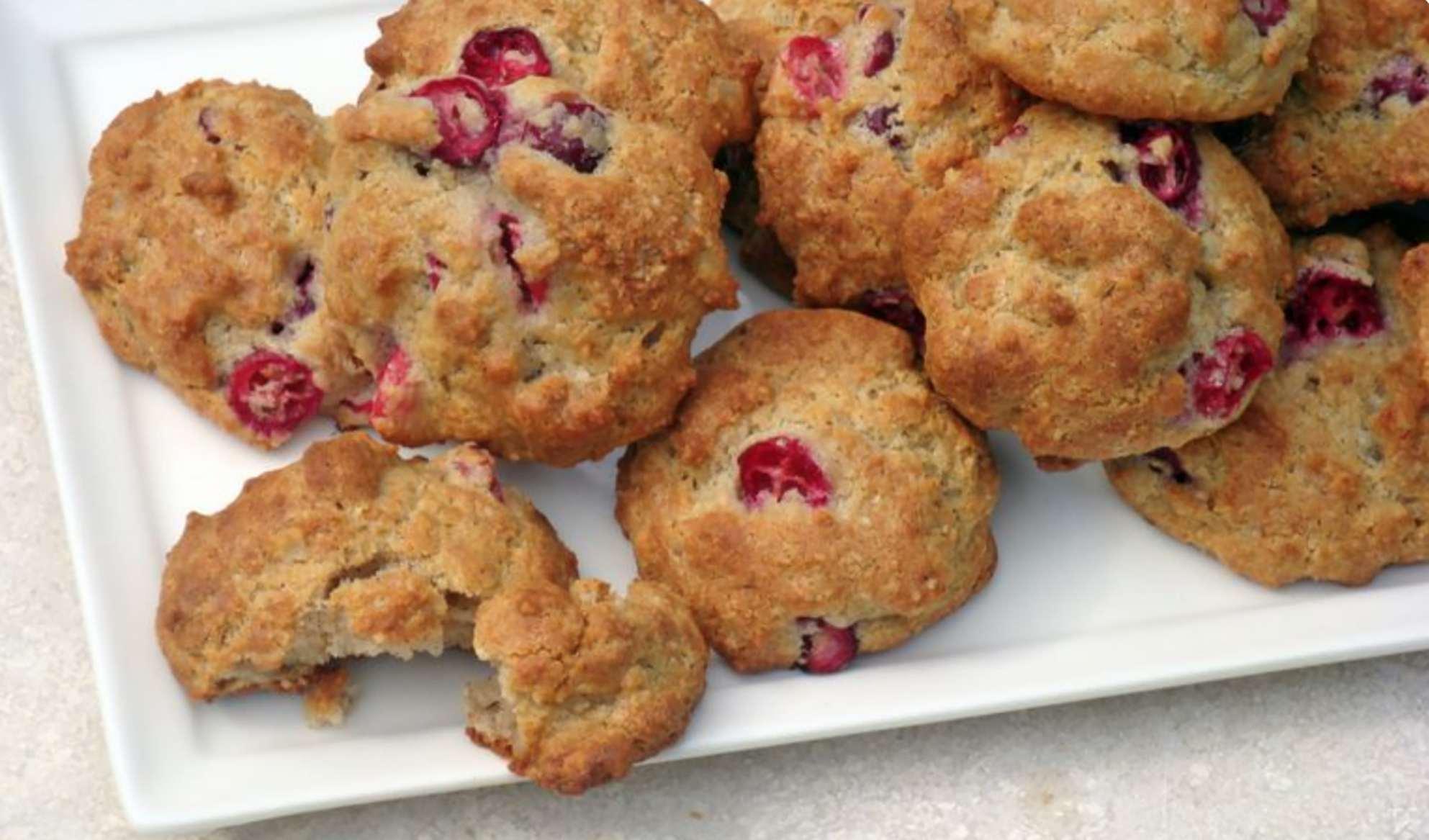 galletas de nuez y arándano bajas en carbohidratos
