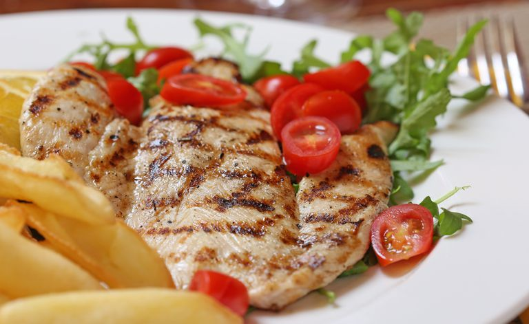 Grilled Chicken Breasts with Asian Marinade