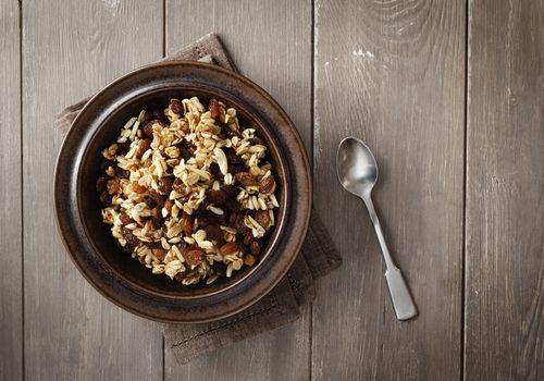 Plato de granola casera