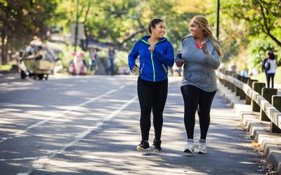 Women jogging in Central Park New York
